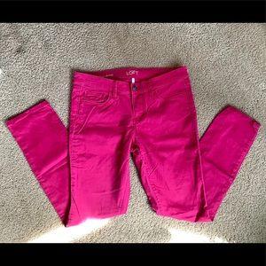 LOFT 4P Magenta Modern Skinny Jeans
